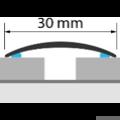 Profi Floor PFA 1 Rozsdamentes Acél áthidaló padlóprofil 90cm- Fényes natúr
