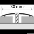 Profi Floor PFA 2 Rozsdamentes Acél áthidaló padlóprofil 90cm- Fényes natúr