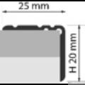 Profi Floor PF 10 Alumínium lépcső profil 270cm - Ezüst