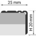 Profi Floor PF 11 Alumínium lépcső profil 90cm - Ezüst