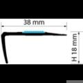 Profi Floor PF 12 Alumínium lépcső profil csúszásgátlóval 90cm -Titán