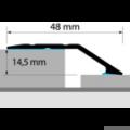 Profi Floor PF 14 Alumínium burkolatváltó padlóprofil 270cm - Ezüst