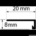 Profi Floor PF 6 Alumínium végzáró profil 90cm - Titán