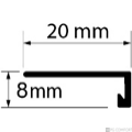 Profi Floor PF 6 Alumínium végzáró profil 270cm - Ezüst