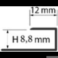 Profi Floor PF 7 Alumínium végzáró profil 270cm - Ezüst