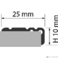 Profi Floor PF 8 Alumínium lépcső profil 270cm - Bronz