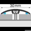 Profi Floor PF-FA1 Fa dekoros áthidaló padlóprofil 90cm - Sötét dió