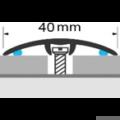 Profi Floor PF-FA2 Fa dekoros áthidaló padlóprofil 90cm - Sötét dió