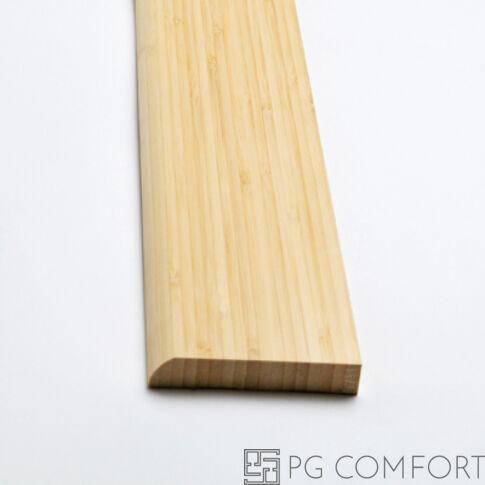 """Bambusz szegélyléc – Vertikális """"Natúr"""" 8cm"""
