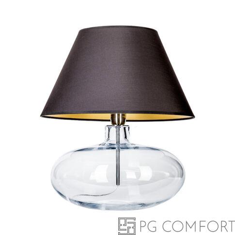 4Concepts Stockholm asztali lámpa-Fekete-Ezüst