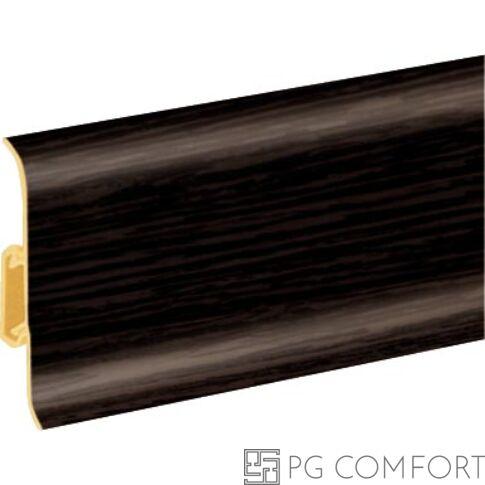 Hi-Line Prestige PVC szegélyléc kábelcsatornával 75mm - Wenge - 200