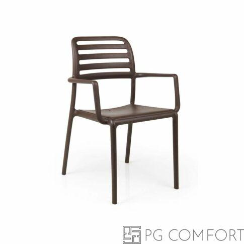 Nardi Costa szék karfával - Kávé barna színben
