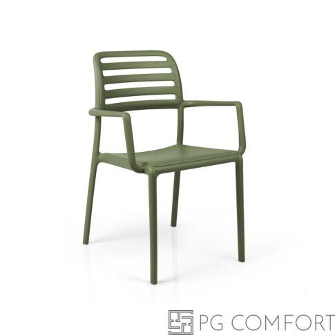 Nardi Costa szék karfával - Agave zöld színben