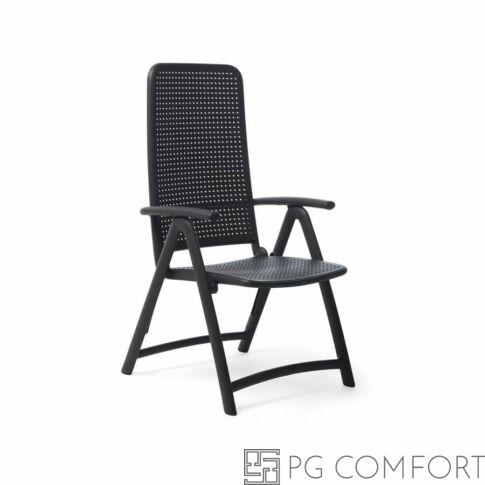 Nardi Darsena szék karfával - Antracit szürke színben