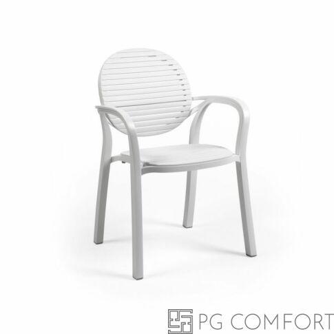 Nardi Gardenia szék karfával - Fehér színben