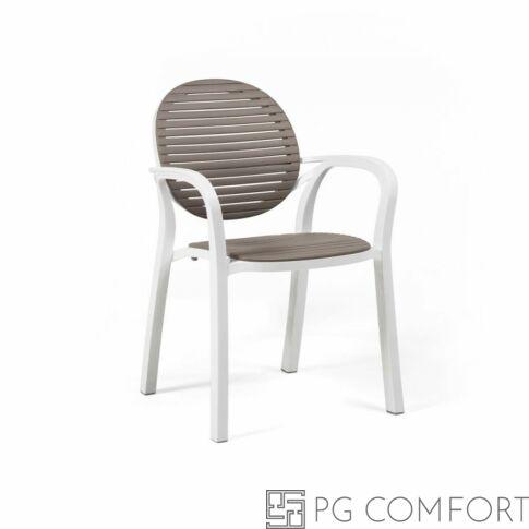 Nardi Gardenia szék karfával - Galambfehér színben
