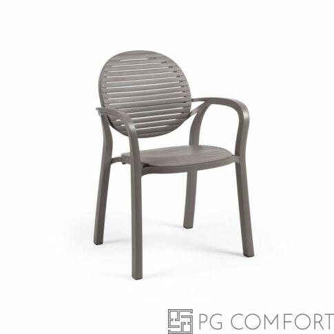 Nardi Gardenia szék karfával - Galambszürke színben