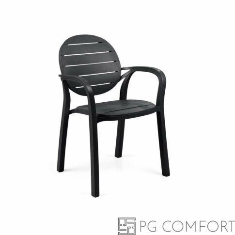 Nardi Palma szék karfával -  Antracit szürke színben
