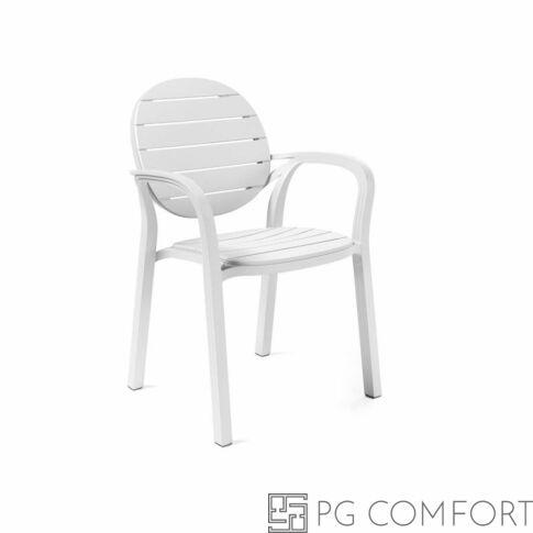 Nardi Palma szék karfával - Fehér színben
