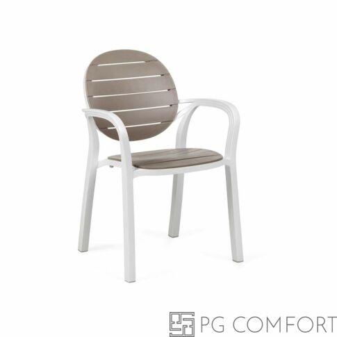 Nardi Palma szék karfával -  Galambfehér színben