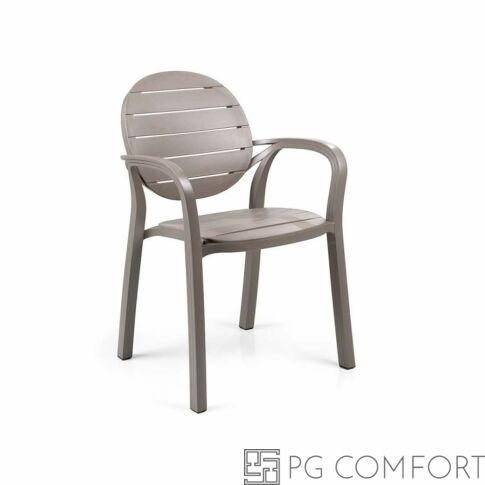 Nardi Palma szék karfával - Galambszürke színben