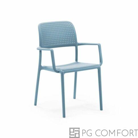 Nardi Bora szék karfával - Égszínkék színben