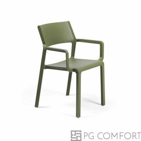 Nardi Trill Armchair szék karfával - Agave zöld színben