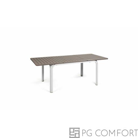 Nardi Alloro Extensible kerti asztal - 140 cm - Galambfehér színben