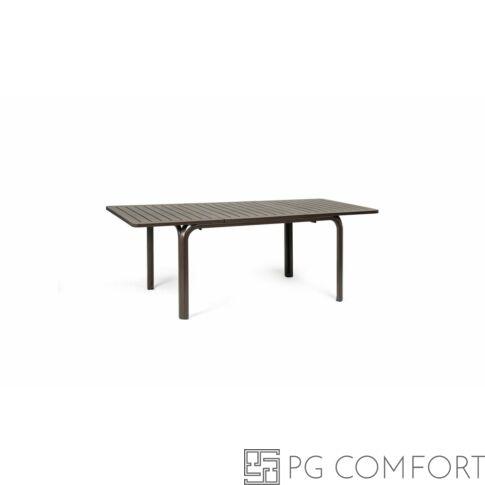 Nardi Alloro Extensible kerti asztal - 140 cm - Kávé barna színben