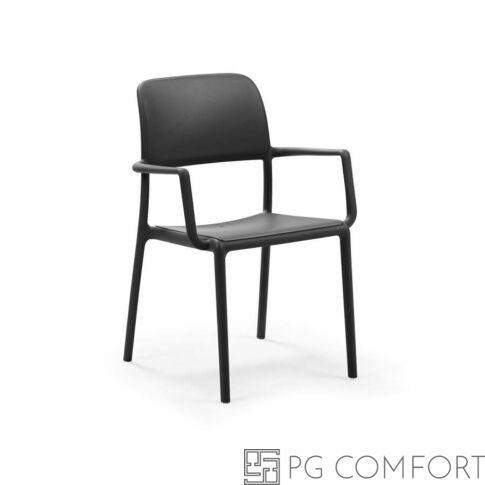 Nardi Riva szék karfával - Antracit szürke színben