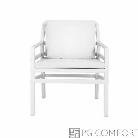 Nardi Aria  Poltrona fotel -Fehér színben fehér párnával