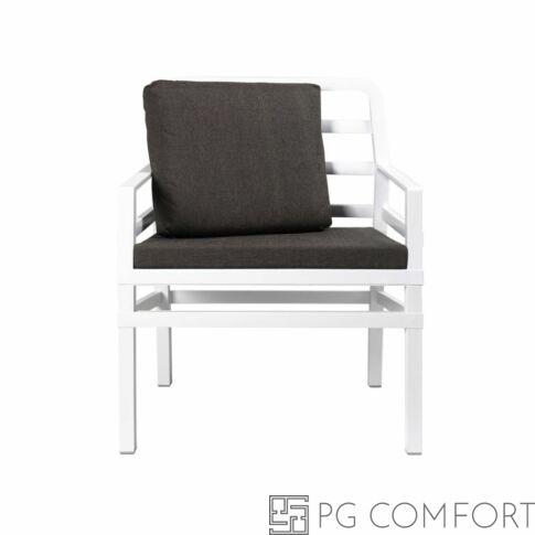 Nardi Aria  Poltrona fotel -Fehér színben kávé barna párnával