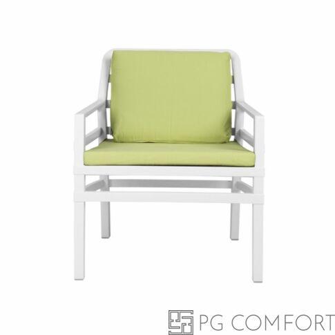 Nardi Aria  Poltrona fotel -Fehér színben lime párnával