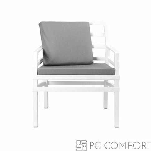 Nardi Aria  Poltrona fotel -Fehér színben galambszürke párnával