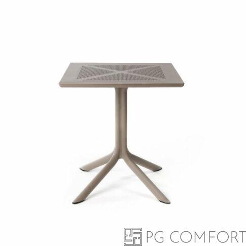 Nardi Clipx kerti asztal - 70 cm - Galambszürke színben