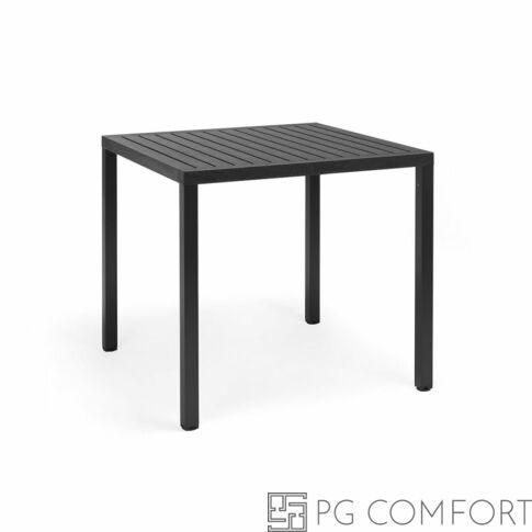 Nardi  Cube kerti asztal - 80 cm - Antracit szürke színben