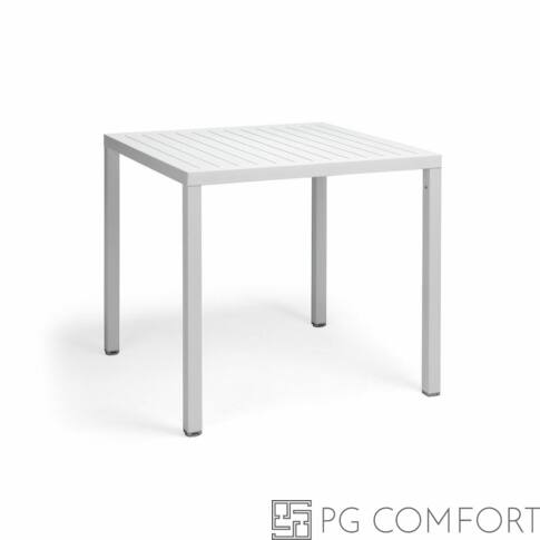 Nardi  Cube kerti asztal - 80 cm - Fehér színben