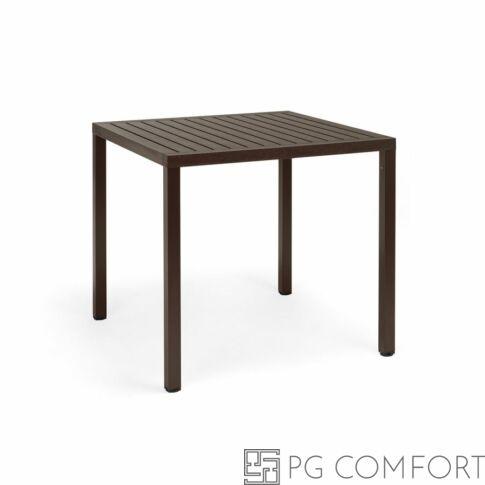Nardi  Cube kerti asztal - 80 cm - Kávé barna színben