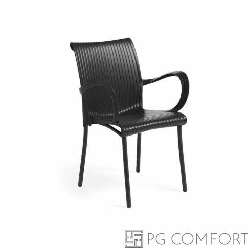 Nardi Dama szék karfával - Antracit szürke színben