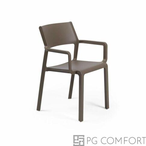 Nardi Trill Armchair szék karfával - Dohány barna színben