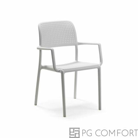 Nardi Bora szék karfával - Fehér színben