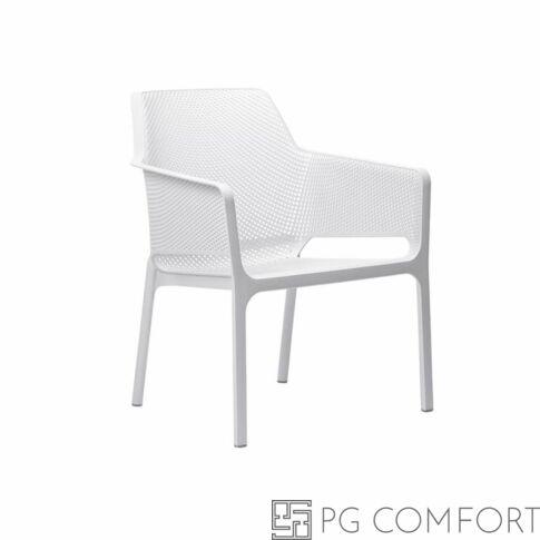 Nardi Net Relax szék karfával - Fehér színben