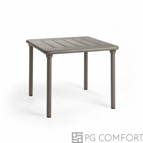 Nardi Maestrale kerti asztal - 90 cm - Galambszürke színben