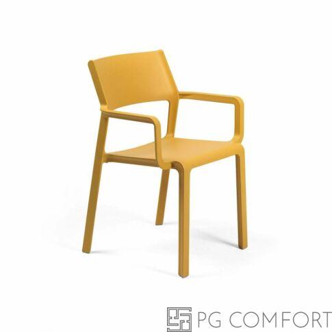 Nardi Trill Armchair szék karfával - Mustár sárga színben