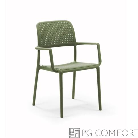 Nardi Bora szék karfával - Agave zöld színben
