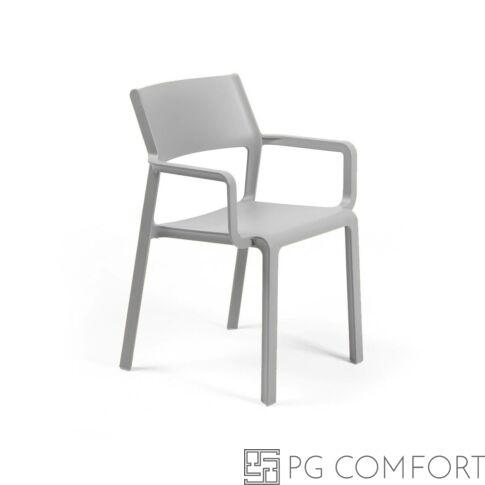 Nardi Trill Armchair szék karfával - Szürke színben