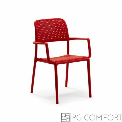 Nardi Bora szék karfával - Tűzpiros színben
