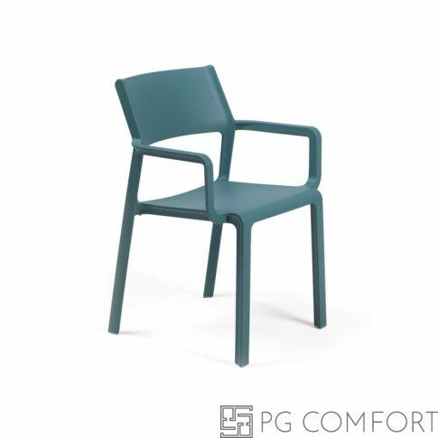 Nardi Trill Armchair szék karfával - Ottanio kék színben