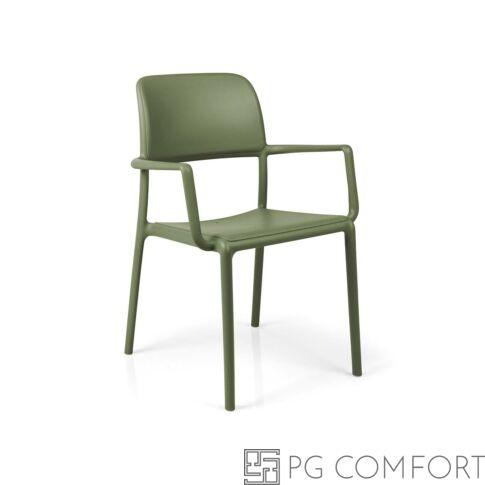 Nardi Riva szék karfával- Agave zöld színben