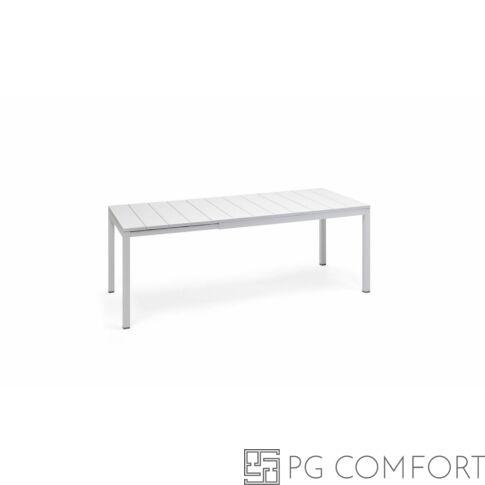 Nardi Rio Extensible kerti asztal - 140 cm - Fehér színben